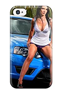 ClaudiaDay Snap On Hard Case Cover Girls And Cars Protector For Iphone 4/4s by lolosakes