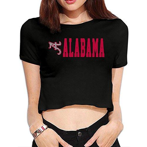 Women's University Of Alabama UA Alabama Crimson Tide Logo Crop Top T-sh...