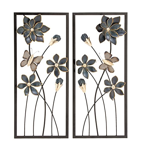 Deco 79 53361 Metal Wall Decor (Set of 2), 12