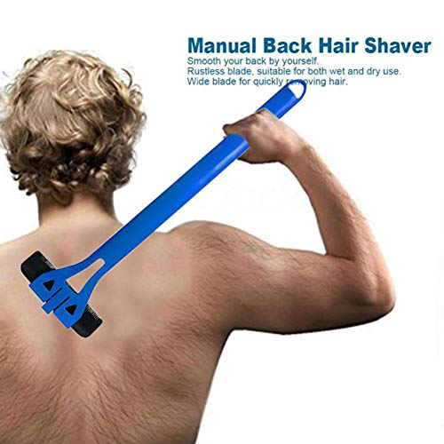 Men Manual Back Hair Shaver Trimmer Do-It-Yourself Whole Leg Back Hair Razor Long Handle Big Blade