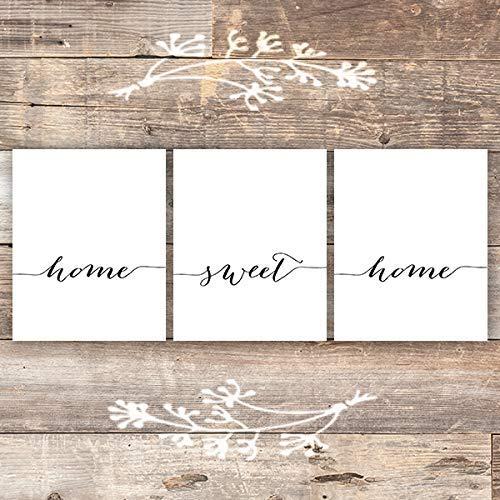 Home Sweet Home - Wall Decor Art Prints (Set of 3) - Unframed - 8x10s 1