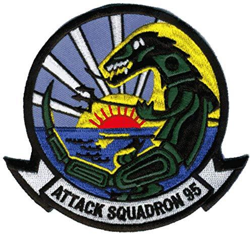 VA-95 Green Lizards Squadron Patch - Plastic Backing