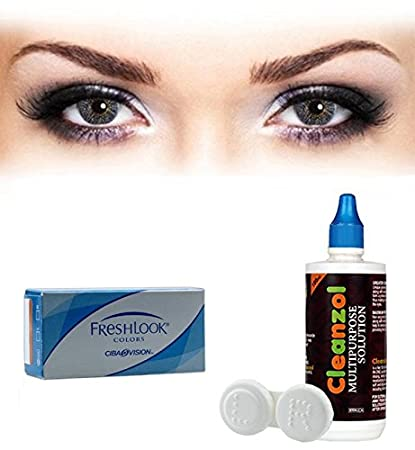 9a498462442 Buy Alcon Freshlook Colors Contact Lens with Lens Case and Solution -  (Misty Grey) - 2 Pieces Online at Low Prices in India - Amazon.in
