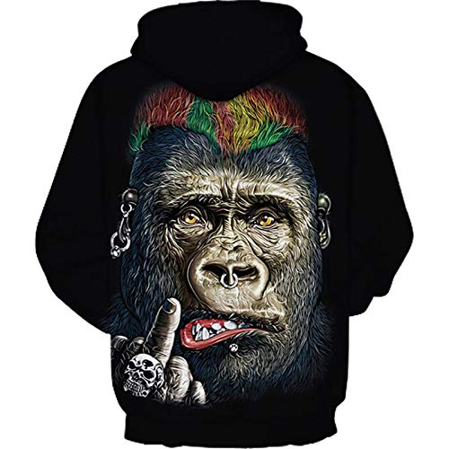 91e98da7d97b ... GGmar Harajuku Men Clothing Black Skull Hoodie 3D Hip Hop Casual  Sweatshirt ...