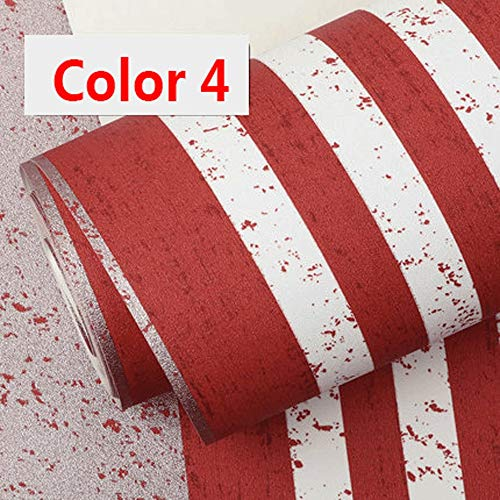 Mediterranean red blue striped wallpaper modern minimalist living room bedroom background wall paper (Color : Color 4) ()