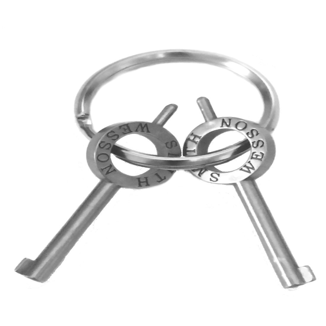 2 Authentic Smith & Wesson Handcuff Key for S&W Models 100, 300, 1850, 1900 with Key Ring
