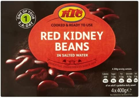 Ktc Red Kidney Beans In Salted Water 4 X 400g Amazon Co Uk Grocery
