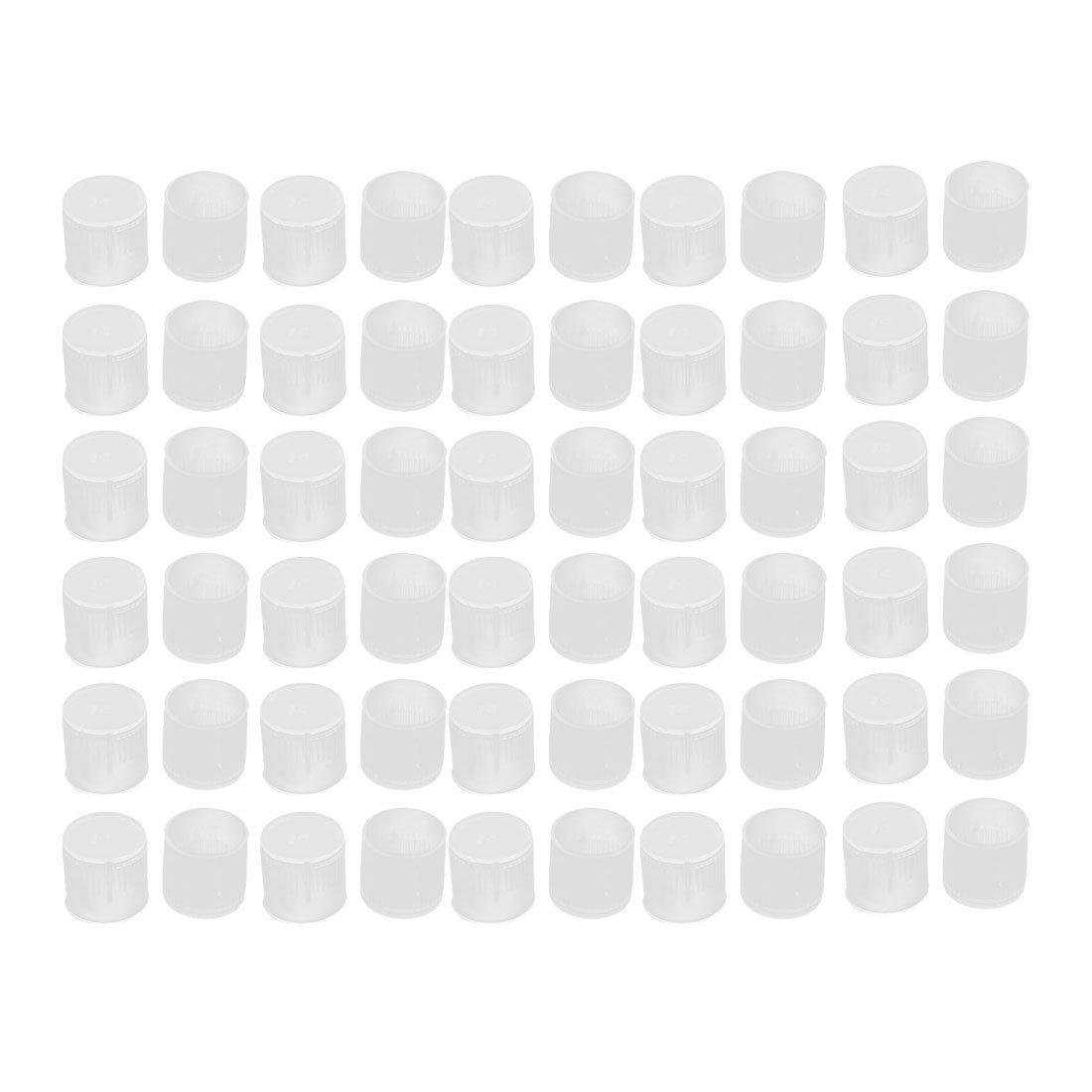 uxcell 60Pcs 14mm Inner Dia PE Plastic End Cap Bolt Thread Protector Tube Cover