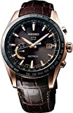 Mens Seiko Astron GPS Solar World Time Gold Watch SSE096