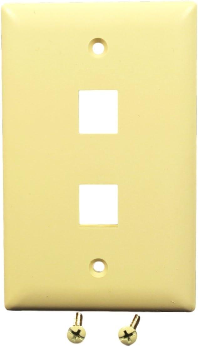 P/&S 1-Gang Rocker Switch Opening Unbreakable Wall Plate Light Almond 10