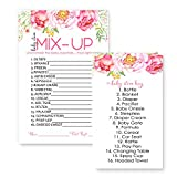 Floral Baby Shower Word Scramble Game Card (25 Pack)