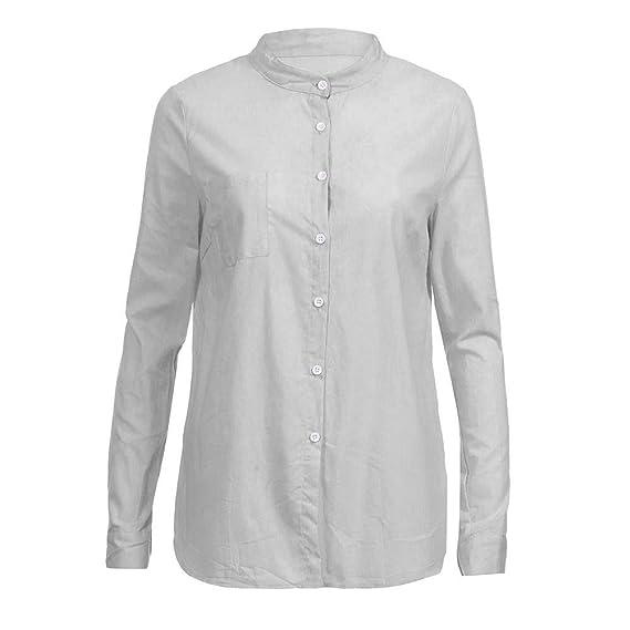 Blusa Mujer, BBestseller Otoño e Invierno Blusas para Mujer Camisas Mujer Collar de algodón Manga