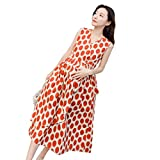 Nat Terry Maternity Sundress Slim Waist Long Dress Clothes for Pregnant Women