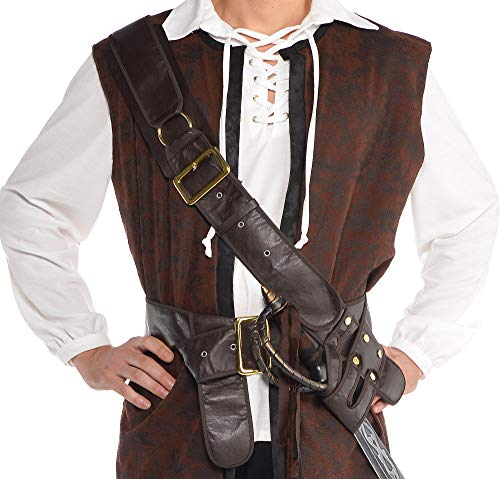 AMSCAN Pirate Bandolier Belt Halloween Costume Accessory for Adults, One Size (Bandolier Belt)