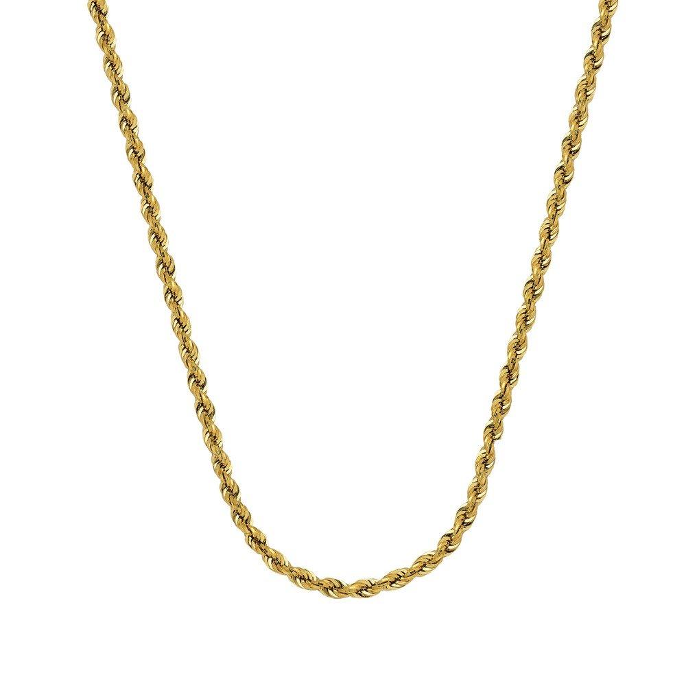 online barato 14 K oro amarillo hueco hueco hueco cuerda cadena collar 4 mm cierre de pinza de langosta – opciones de longitud  46 51 56 61 76  diseño único