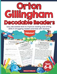 Orton Gillingham Decodable Readers. Easy decodable texts to improve reading and writing skills in struggling r