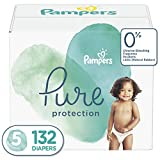 : Diapers Size 5, 132 Count - Pampers Pure Disposable Baby Diapers, Hypoallergenic and Unscented Protection, ONE MONTH SUPPLY