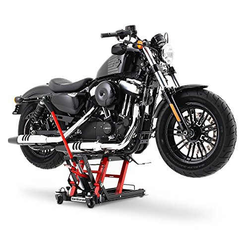 XLH 883 // XL 883 XL 883 C Cric moto ConStands Mid-Lift L noir-rouge pour Harley Davidson Sportster 883// Custom Sportster 883 Hugger