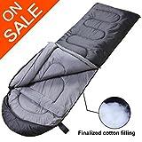 sleeping bag - VERZEY Envelope Camping Sleeping Bag, Great for 4 Season, Traveling Camping Hiking Outdoor Activities Waterproof Sleeping Bag for Adults, Kids, Boys and Girls(Dark Grey, Rectangular)
