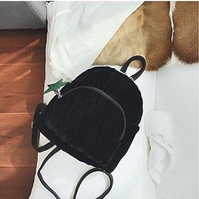 Women Bags PU Backpack Zipper for Casual Winter Fall Wine Black Green