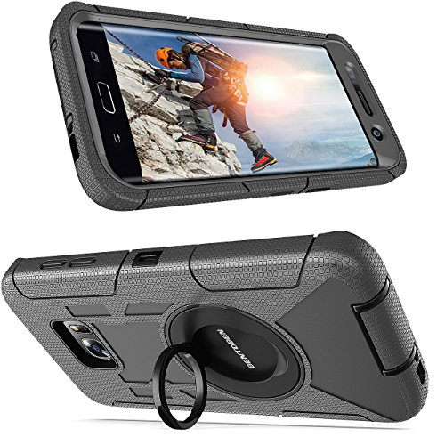 official photos 358d7 ef9b0 BENTOBEN Galaxy S7 Edge Case, Galaxy S7 Edge Case Belt Clip, 4 in 1 Heavy  Duty Rugged Shockproof Hybrid Kickstand Combo Belt Clip Holster Cover ...