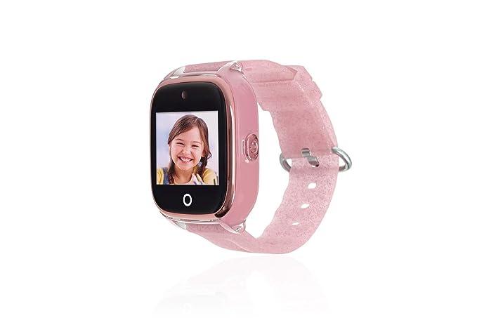 Reloj con GPS para NIÑOS Save Family Modelo Superior ACUÁTICO con Camara Color Rosa Glitter