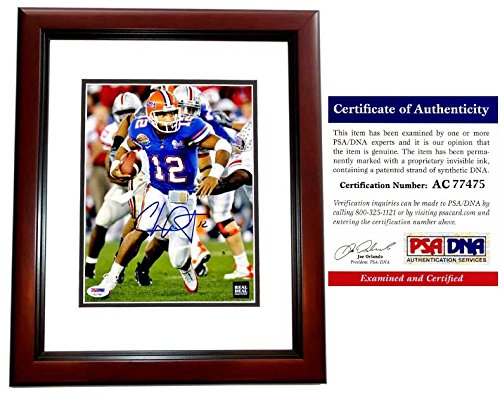 Chris Leak Signed - Autographed Florida Gators UF 8x10 inch 2006 Championship Photo MAHOGANY CUSTOM FRAME - 2006 BCS MVP and National Champs - PSA/DNA Certificate of Authenticity (COA)