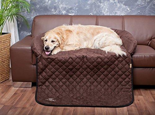 Knuffelwuff 12776 Sofaschutz und Hundematte, S-M, 80 x 70cm, berry braun