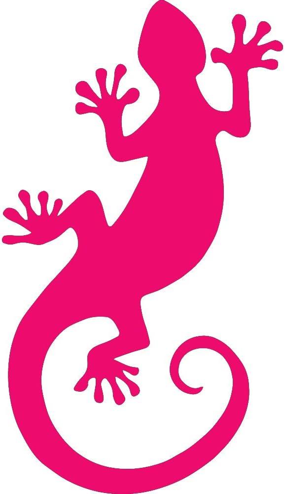 Animal Gecko Lizard Wildlfie Gecko Lizard Wildlife (PINK) (set of 2) Premium Waterproof Vinyl Decal Stickers for Laptop Phone Accessory Helmet Car Window Bumper Mug Tuber Cup Door Wall Decoration