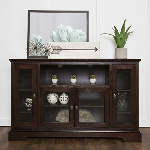 New 52 Inch Wide 33 Inch Tall Espresso Brown Wood Highboy Tv Console by Home Accent Furnishings