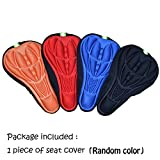 Ezyoutdoor Mountain Bike Saddle Cover Airy Pillows 3D Silicone Comfortable Seat Cover Cushion Sets Pad Mat Soft Gel Bike/Bicyle Saddle Seat Cushion Pad Cover(Random Color)