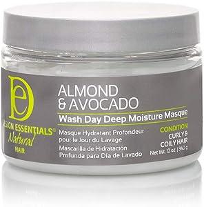 Design Essentials Natural Almond & Avocado Wash Day Deep Moisture Masque, 12 Oz