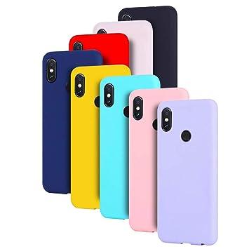 MOSORIS [ 8 Pack Fundas Silicona Xiaomi Redmi Note 5, Carcasa de Mate Superficie [ Anti-Huella Dactilar ] Suave TPU Tapa Ultra Delgado Protectora Case ...