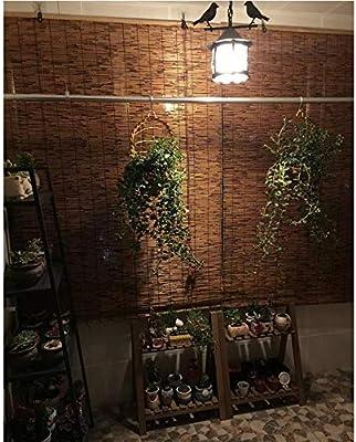 XYL Persianas enrollables de bambú Natural, Estores de Bambú - Cortina de Paja para Porche/Patio/Pérgola/Gazebo, 80x150cm, 110x160cm, 120x250cm, 130x220cm, 150x250cm: Amazon.es: Hogar