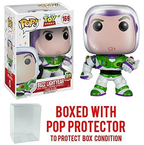 "Funko Pop! Disney Pixar: Toy Story - Buzz Lightyear ""20th Anniversary"" New Pose 2nd version Vinyl Figure (Bundled with Pop BOX PROTECTOR CASE)"