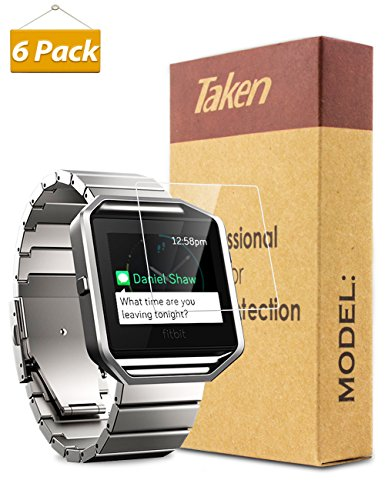 Taken Fitbit Blaze Screen Protector 6-Pack Ultra-Thin HD