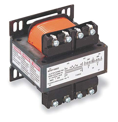 Square D Control Transformer, 100VA VA Rating, 240/480VAC Input Voltage, 120VAC Output Voltage - 9070T100D1 ()