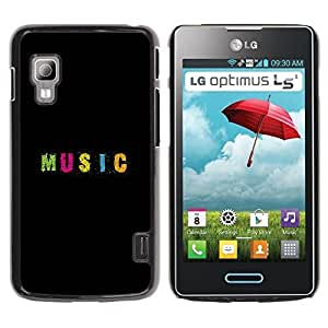 Paccase / SLIM PC / Aliminium Casa Carcasa Funda Case Cover para - Text Minimalist Black Pink - LG Optimus L5 II Dual E455 E460