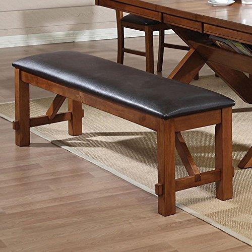 Acme 70004 Apollo Bench, Walnut Finish - Acme Furniture Walnut Finish