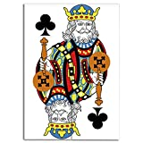 Door Curtain(Two Panels) Multi Style,King,King of Clubs Playing Gambling Poker Card Game Leisure Theme Without Frame Artwork,Multicolor,Drawings Printing Design,W37.4 xH59.1