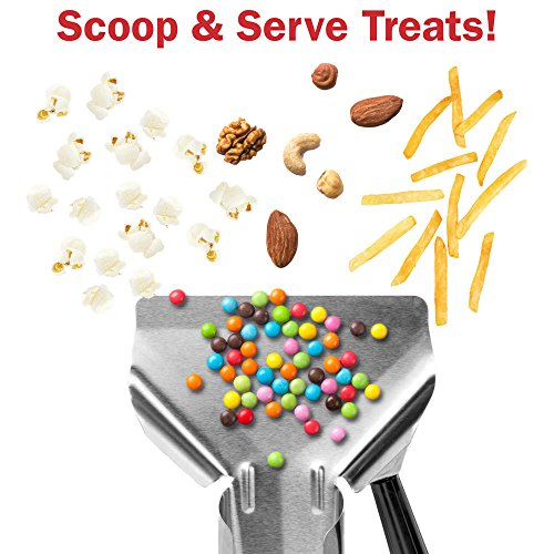 Stainless Steel Popcorn Scoop – Easy Fill Tool for Bags & Boxes, Great Utility Serving Scooper for Snacks, Desserts, Ice, & Dry Goods by Back of House Ltd. by Back of House Ltd. (Image #4)'