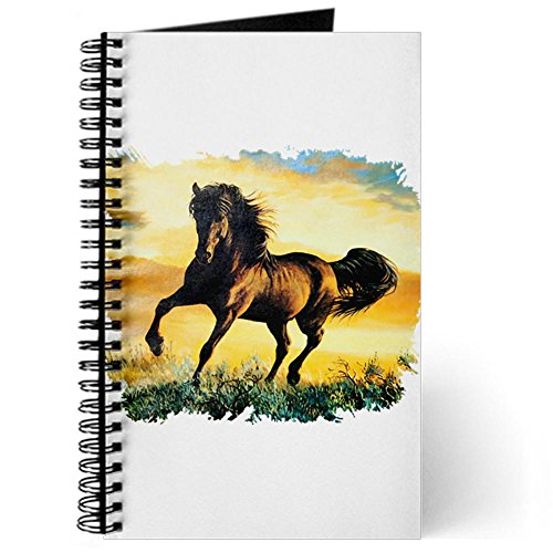 Journal (Diary) with Horse at Sunset on Cover