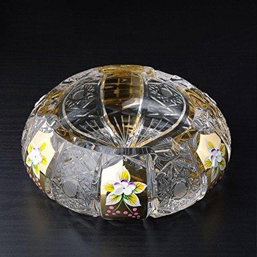 gtvernh Collection de verre Cendrier salon de luxe Continental du cylindre de fum/ée utilit/é cadeau personnalit/é cr/éative