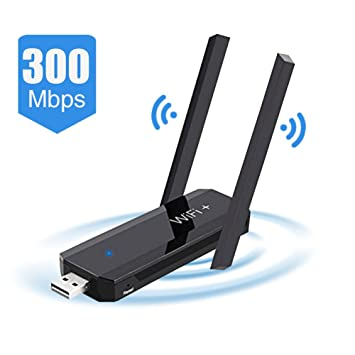 WiFi Booster, 300Mbps WiFi Amplificador de alcance USB-Plug WiFi Repetidor WiFi Signal Booster Wireless Range Extender (Negro Wi-Fi Booster) para PC Desktop ...