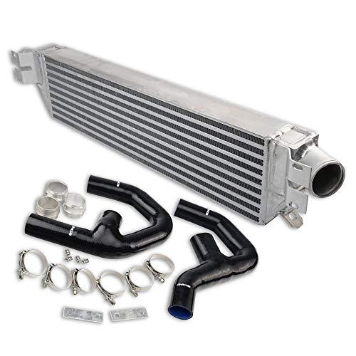(For VW GOLF MK5 MK6 GTI FSI JETTA 2.0T A3 Twin Turbo Front Mount Aluminum Intercooler Kit)