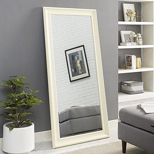 Naomi Home Framed Floor Mirror Cream/65