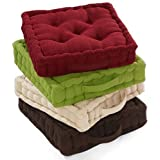 100% Cotton Covered Booster Cushion Thick Seat Pads Adults Chair / Armchair / Garden Chair (Cream)