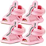 AOFITEE Summer Dog Shoes Breathable Mesh Puppy Boots, Adjustable Dog Sandals Anti-Slip Pet Paw Protector for Hot Pavement