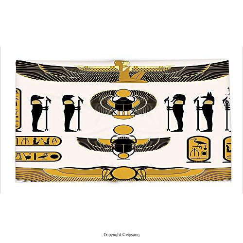 Custom printed Throw Blanket with Egyptian Art Illustration of Old Historical Egyptian Spirit Symbol Mummy Ra Sun Art Decor White Gold Black Super soft and Cozy Fleece (Halloween Mummy Pigs Blanket Recipe)