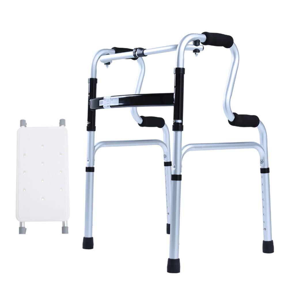 XXHDEE Old Walker + Sitting Bath Board Walker No Wheel Old Aluminum Alloy Disabled Walker Walking aids by XXHDEE